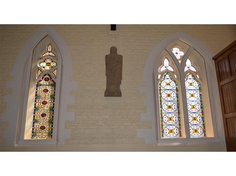 St Lukes Chapel with gothic arched secondary glazing from Selectaglaze