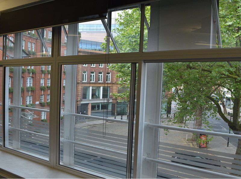 Construction Industry Offices at the Building Centre with quieter secondary glazing to create a peaceful working environment