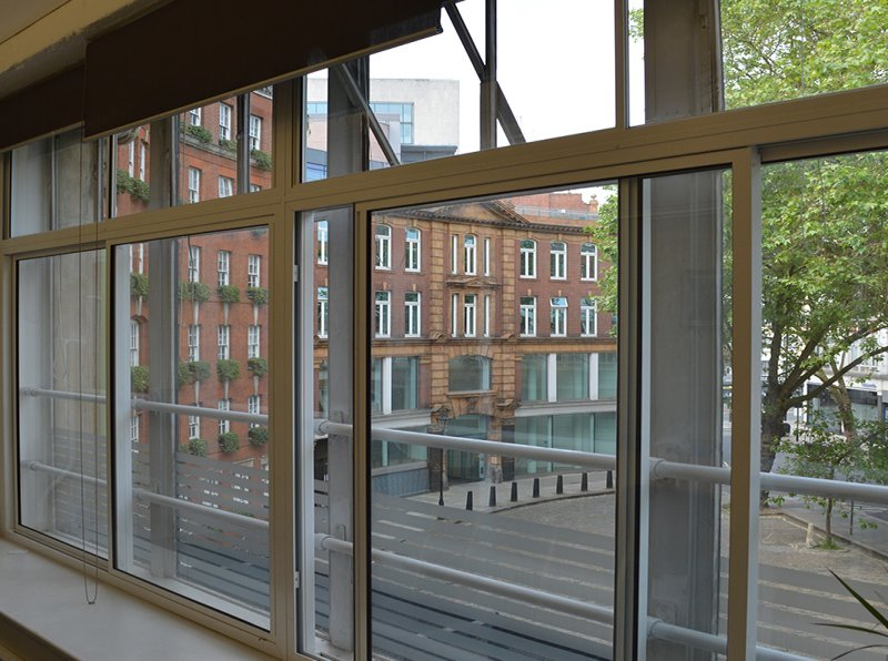 View to Store Street busy thoroughfare - secondary units - bespoke manufacture