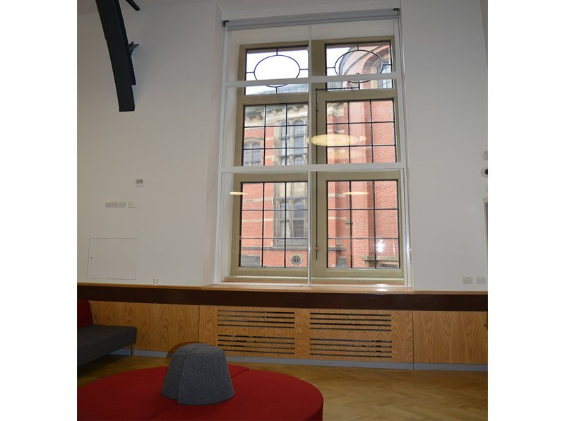 University of Birmingham student information centre retrofitted with Selectaglaze secondary glazing
