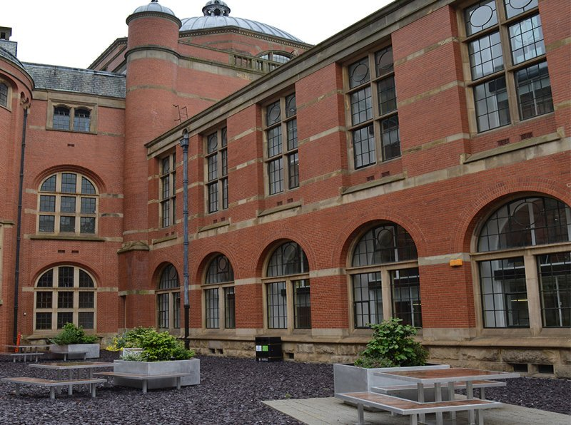University of Birmingham external courtyard