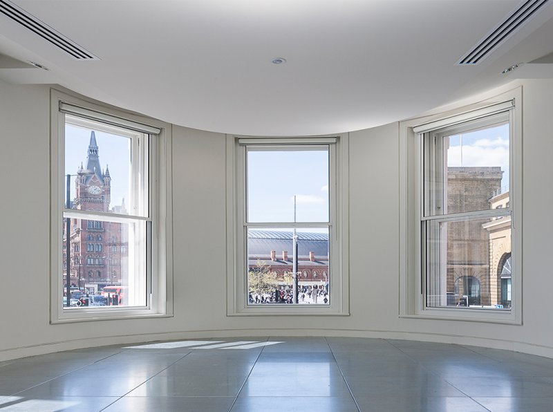 The Lighthouse with acoustic noise reduction glazing at the Lighthouse with views to Kings Cross