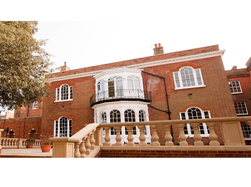 Grade 2 Listed Greyfriars Hotel, Colchester, rear garden and patio