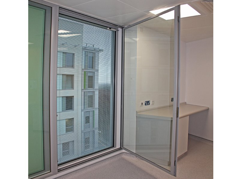 Open hinged casement secondary glazing in Tunbridge Wells Hospital
