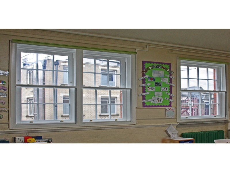 St Josephs School, Camden with Selectaglaze vertical sliding secondary glazing fitted