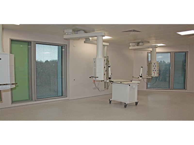 Clean room secondary glazing units - operating theatre at Tunbridge Wells Hospital, Pembury Kent