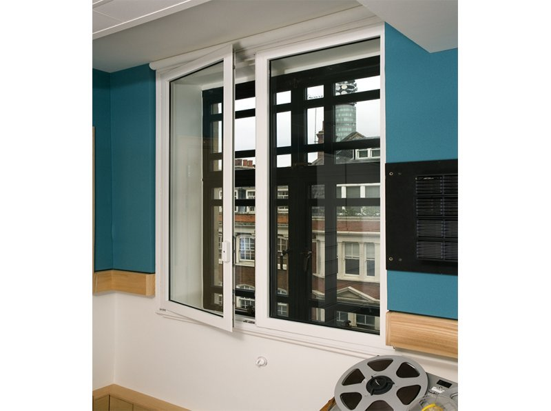 BBC Radio recording studio with acoustic secondary glazing