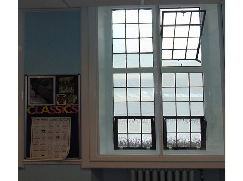 Noise reduction secondary glazing for music room at Francis Holland School London