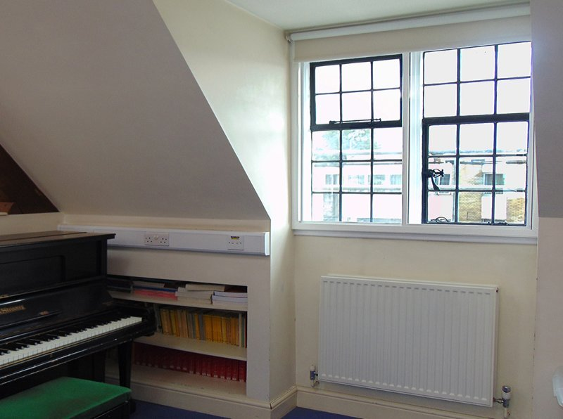 Francis Holland School Baker Street, Noise reduction secondary double glazing for the music room