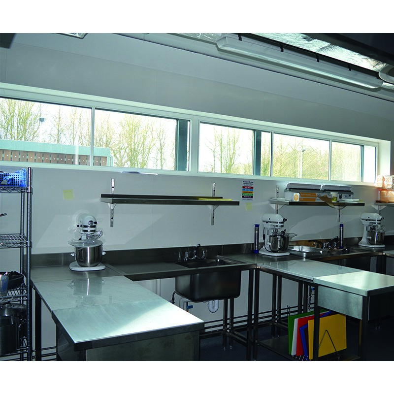 New Build Stansted Airport College Catering room with acoustic secondary glazing