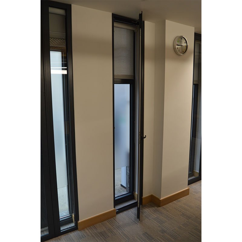 Tall narrow secondary glazing casement doors at City and Guilds Head Office
