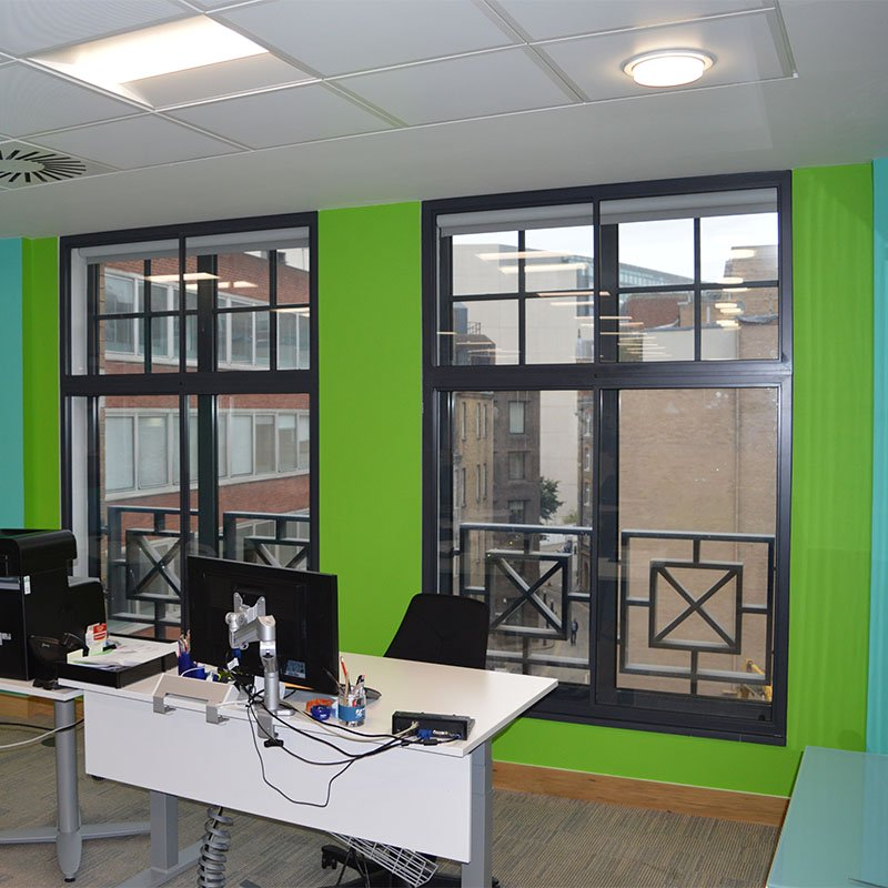City and Guilds office with noise mitigating secondary glazing