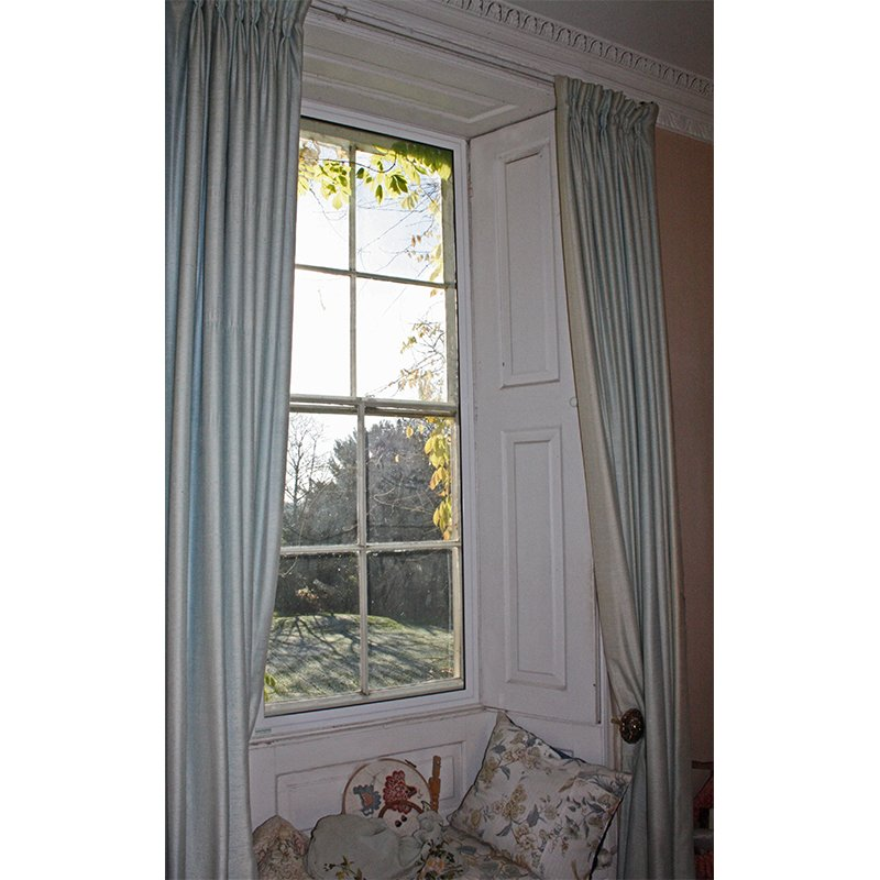 Secondary glazing with shutters in a Grade 2* Listed property, Denton Hosue