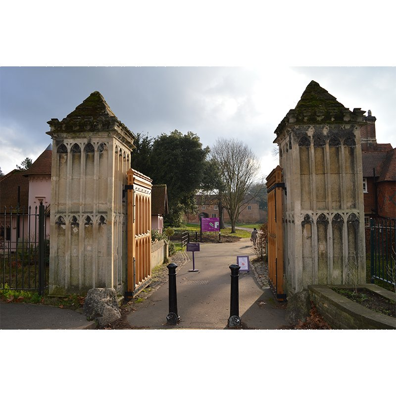 Entrance gates to the Fulham Palace estate