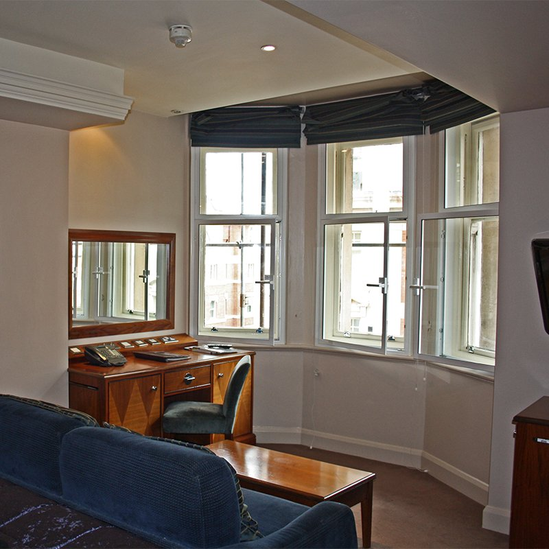 Radisson Edwardian Kenilworth Hotel with secondary glazing to make the room quieter and safer