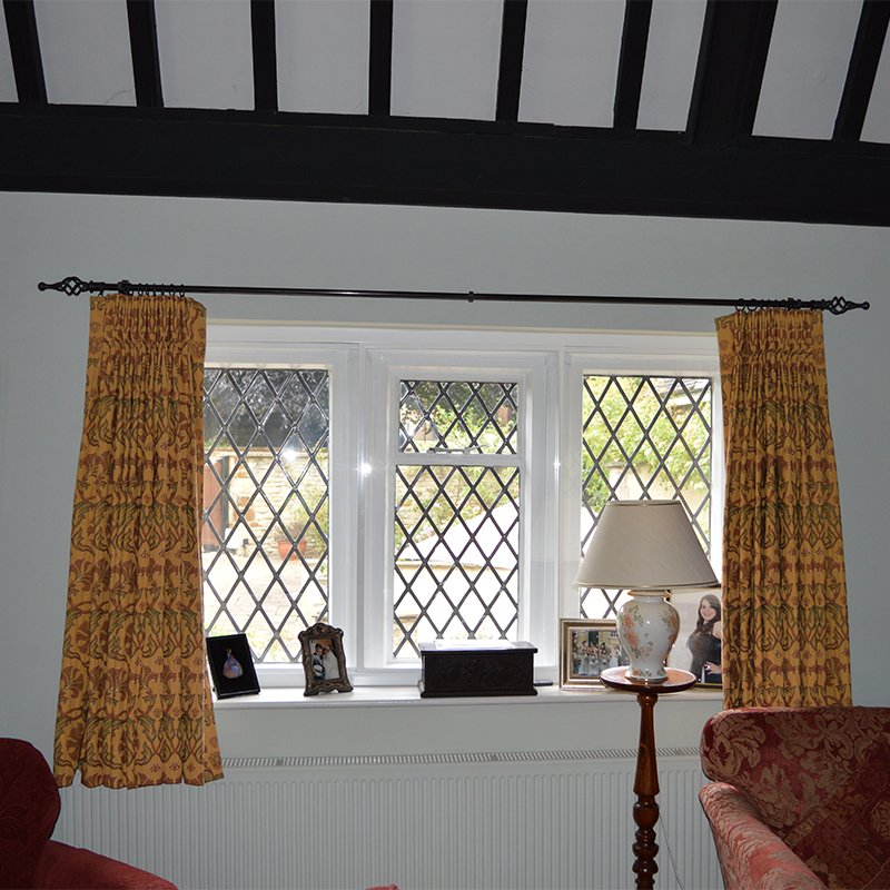 Secondary double glazing to stop draughts and heat loss