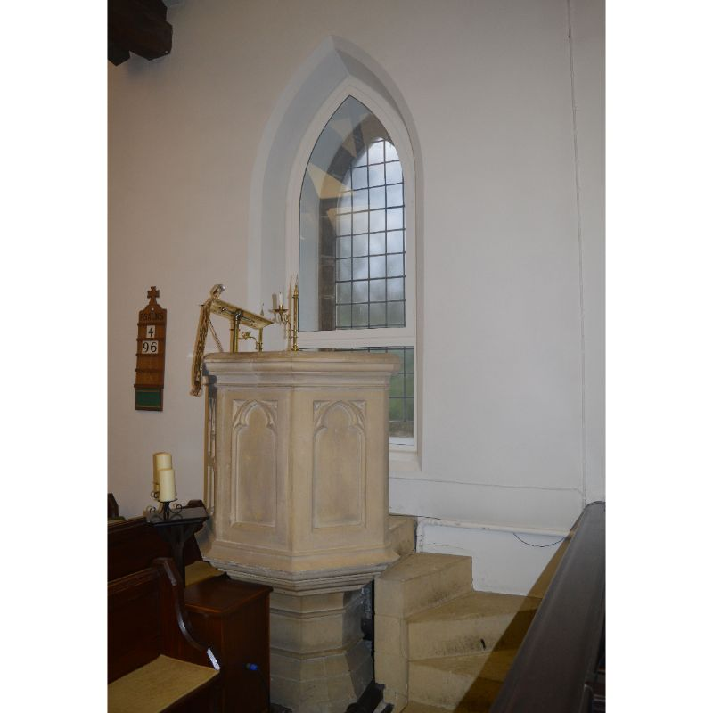 Stone pulpit at Jesus Church