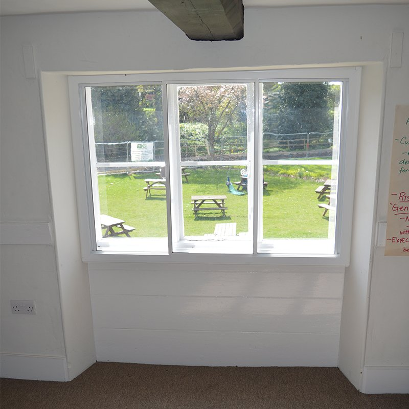 Sacrewell Watermill office with thermal secondary glazing