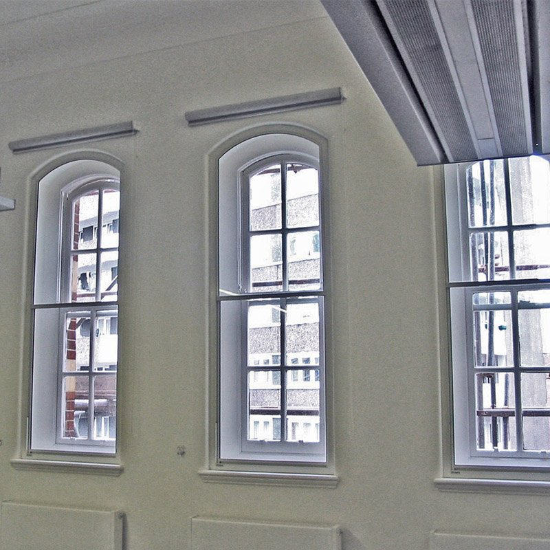 City University secondary glazing for noise reduction