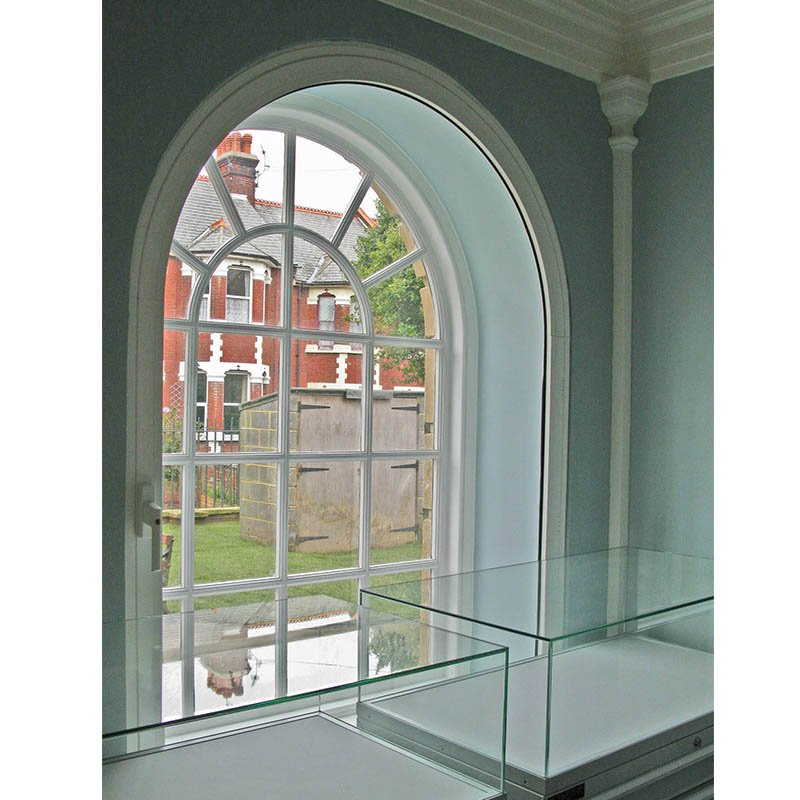 Ramsgate Library original curve window with HC Series 45 secondary glazing