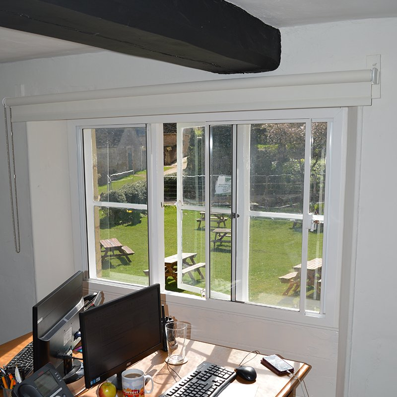 Offices treated with thermal secondary glazing at Sacrewell Watermill