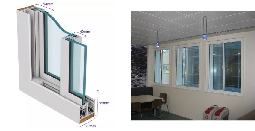 2 Pane Horizontal sliding security secondary glazing