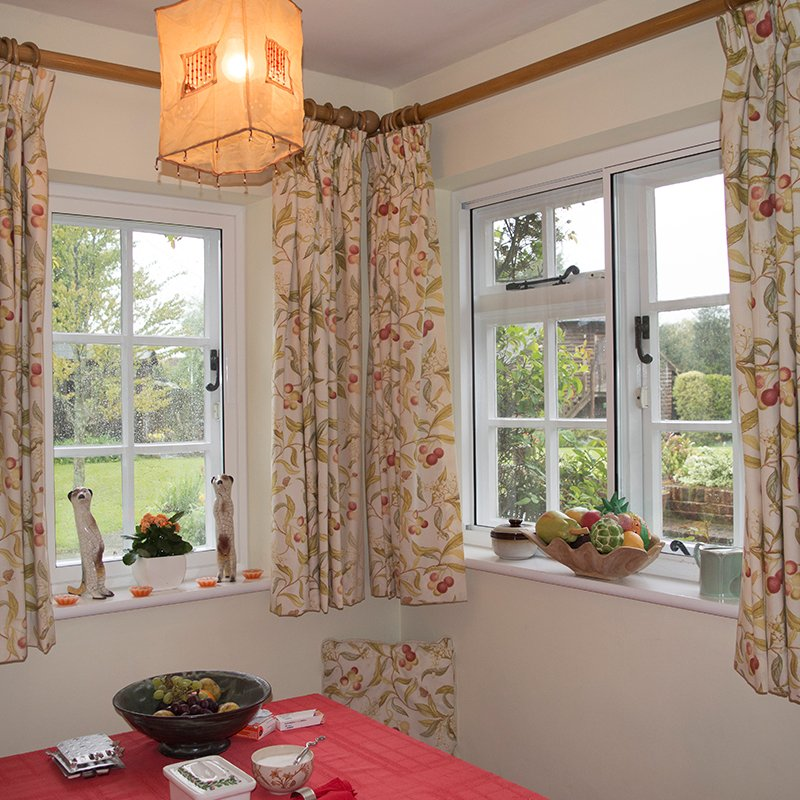 Secondary glazing in the dining area of a grade II Listed building