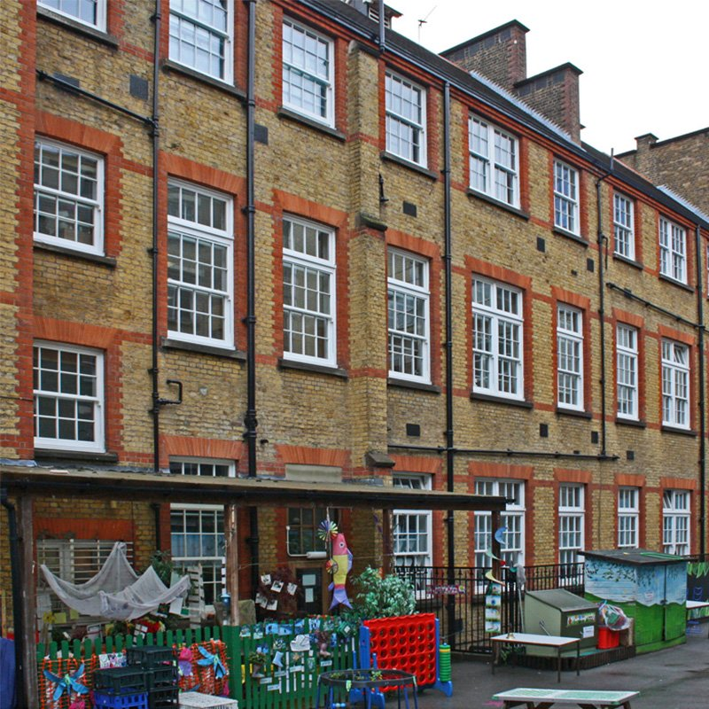 External shot of St Josephs school in Camden