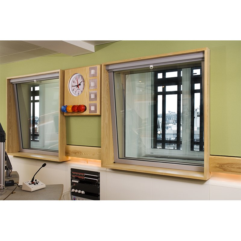 Heavy duty secondary glazing for recording studio partitioning