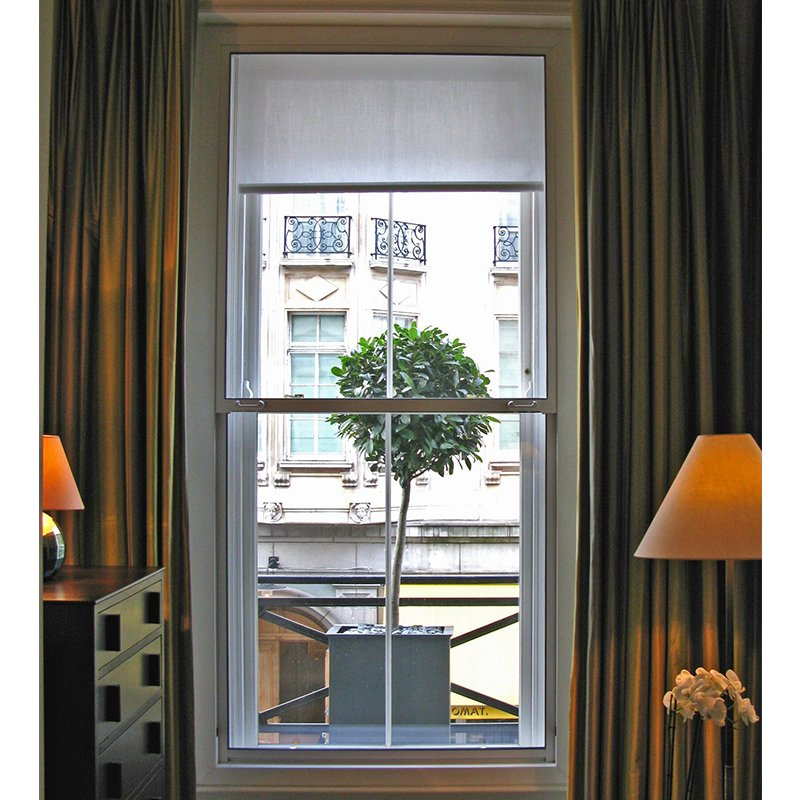 Browns Hotel series 90 vertical sliding secondary double glazing for noise reduction