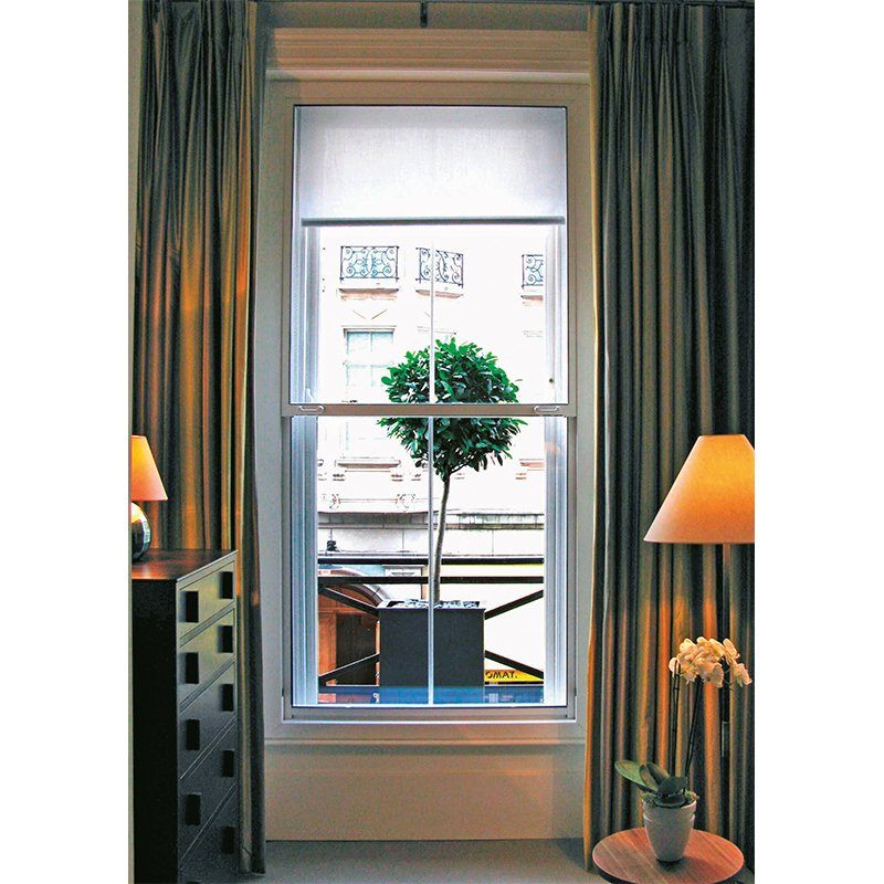 Noise reducing vertical sash secondary double glazing windows - Browns Hotel London