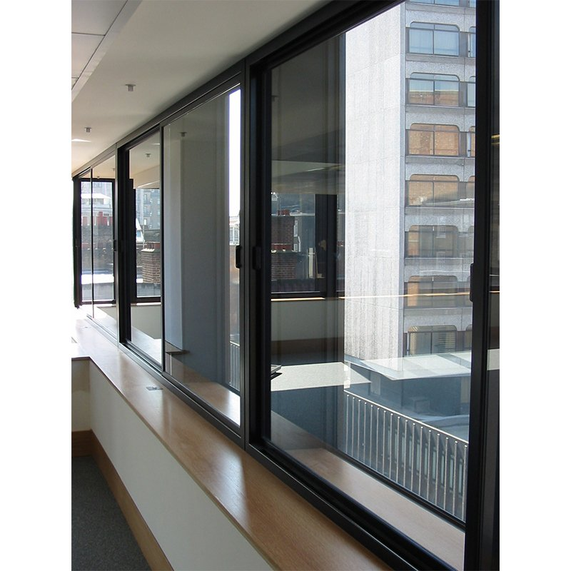 Selectaglaze series 80 horizontal sliding secondary glazing. Offices in Sloane Street