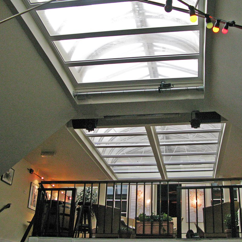 Roof lights with Selectaglaze secondary glazing at Charlotte Street Blues Club