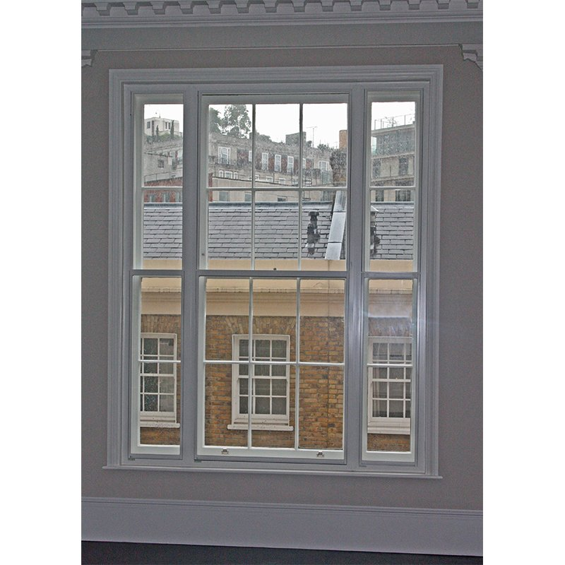 Regency window with view overlooking the neighbouring mews down Cornwall Terrace