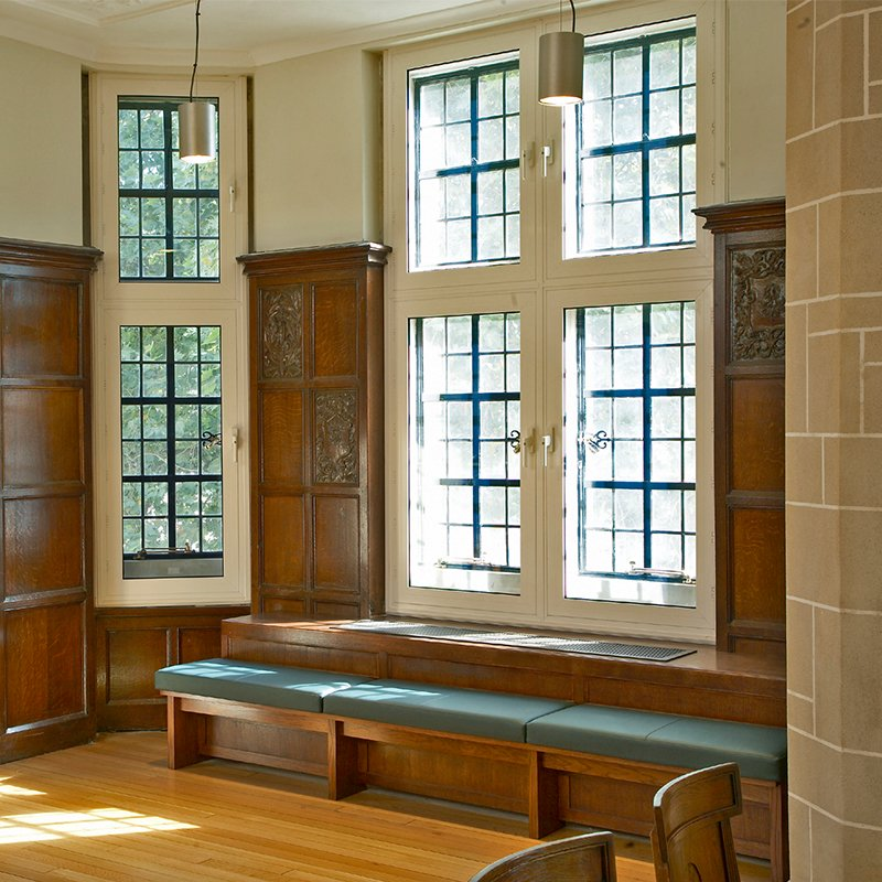 Supreme Court Lobby with bay window  with Selectaglaze secondary glazing installed