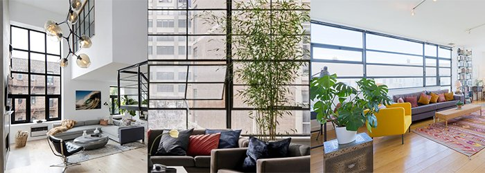 Exmaples of Manhattan Loft Living apartments