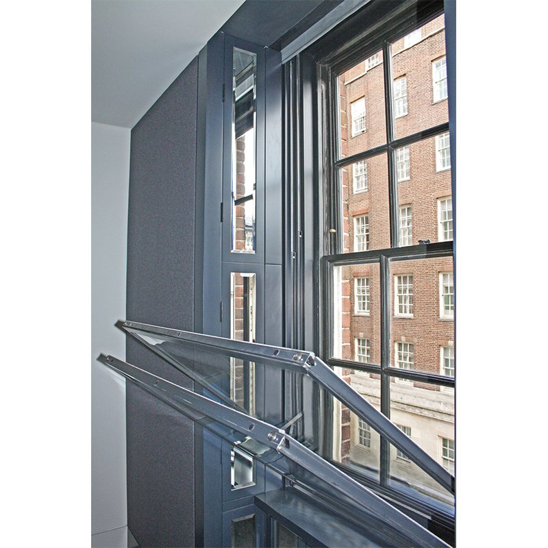 Grosvenor House Apartments treated with noise reducing secondary glazing - Series 60 vertical sliding units
