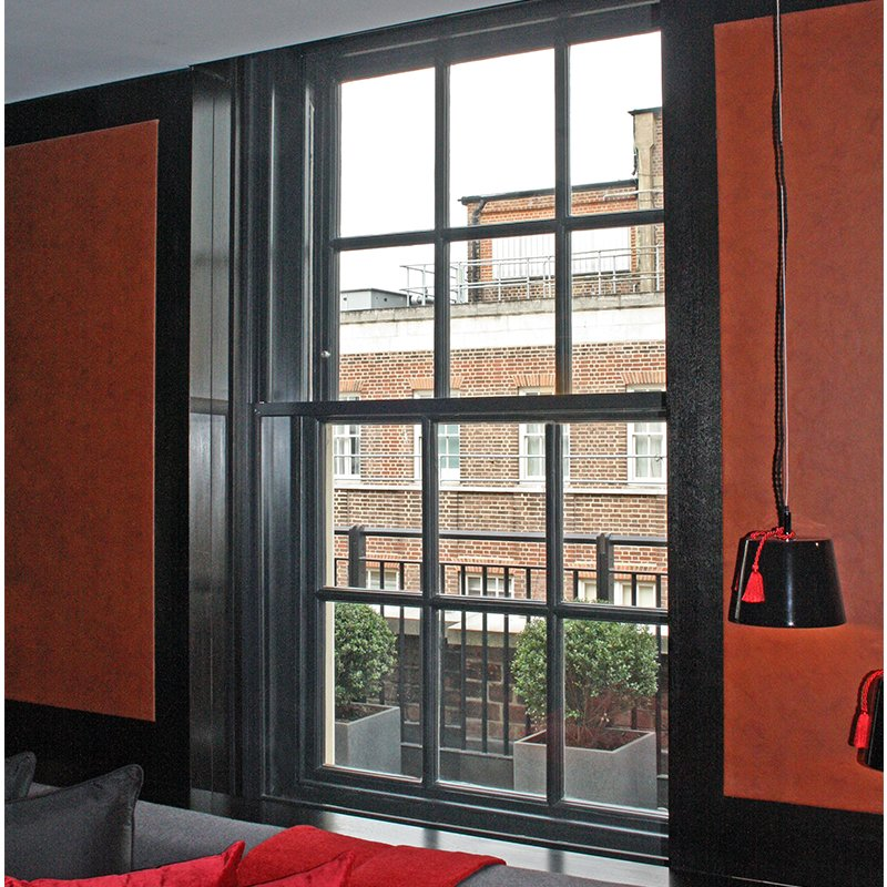 Draft elimination with secondary double glazing for Grosvenor House luxury apartments