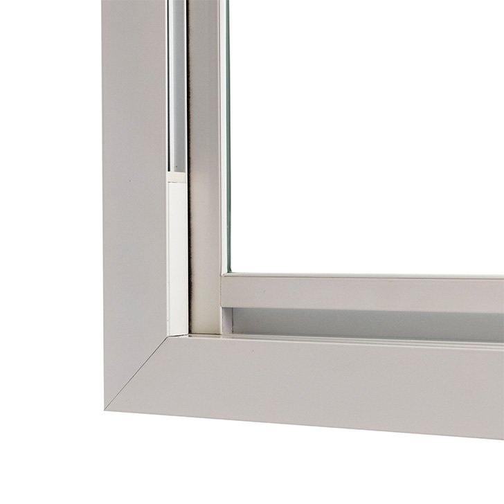 Selectaglaze vertical sliding Series 90 H3 Recessed Finger pull