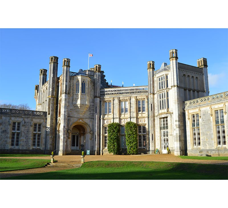 The external view of Highcliffe Castle