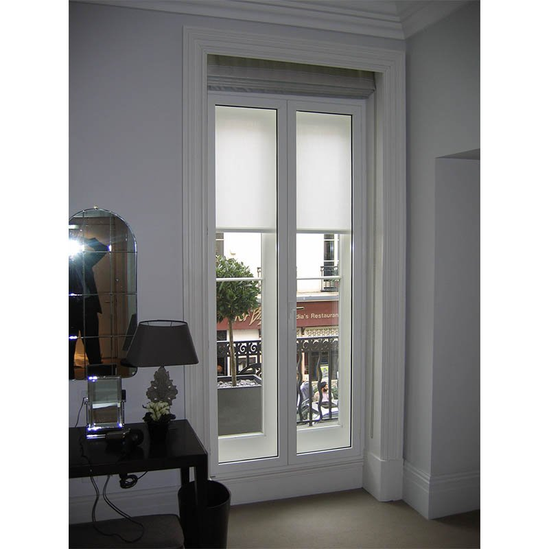 Hinged casement secondary glazing noise reducing unit