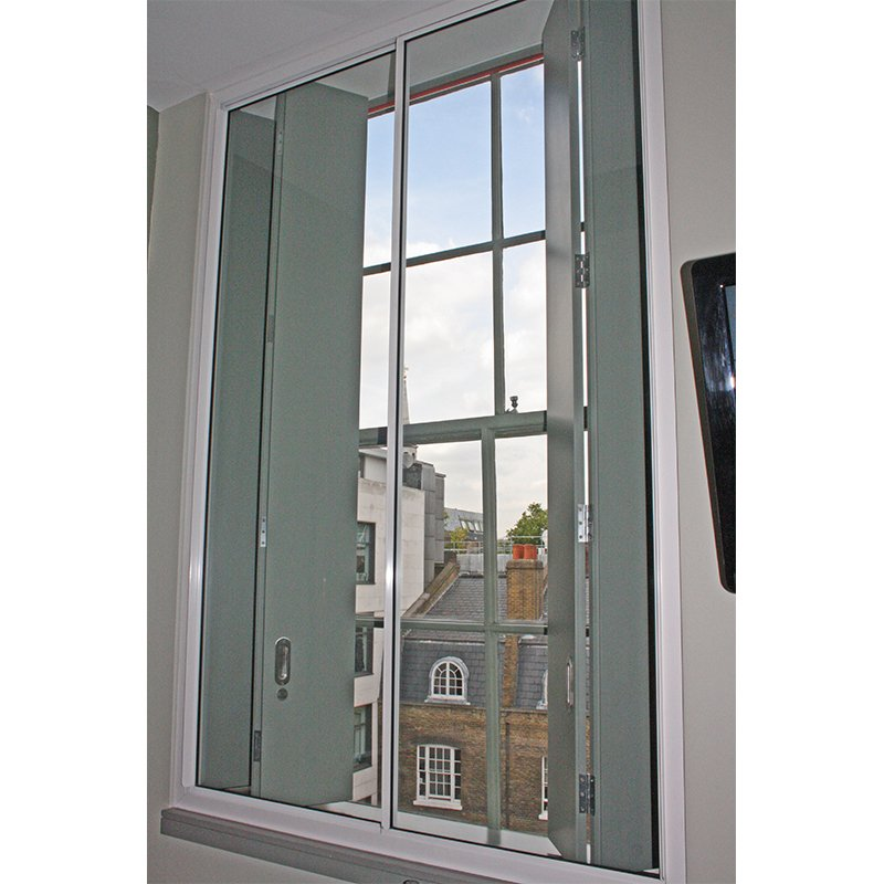 Tall horizontal secondary glazing units by Selectaglaze at Zetter Hotel