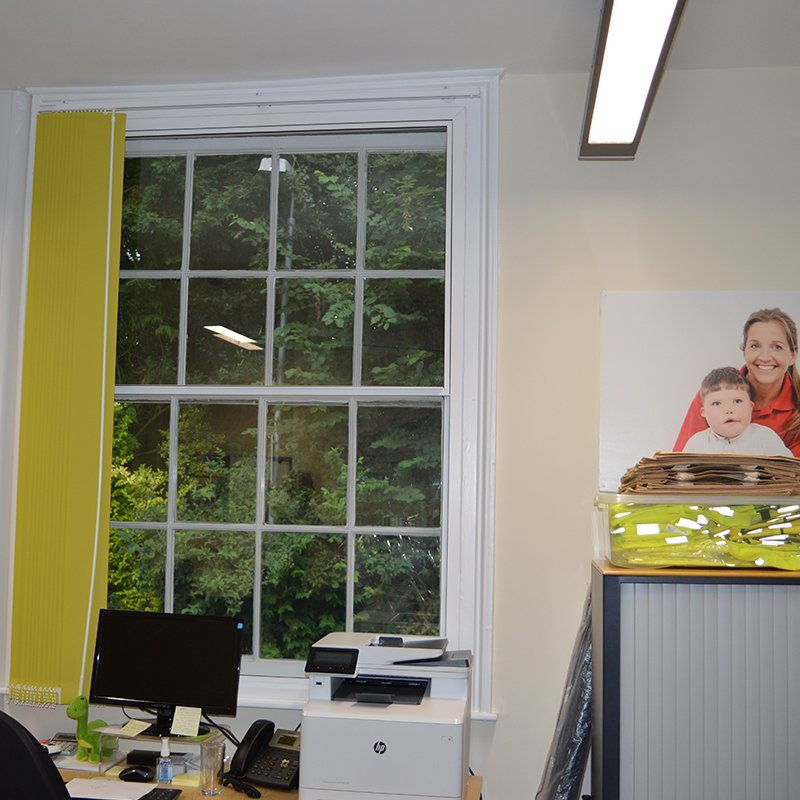 Julias House administration office with Selectaglaze secondary glazing