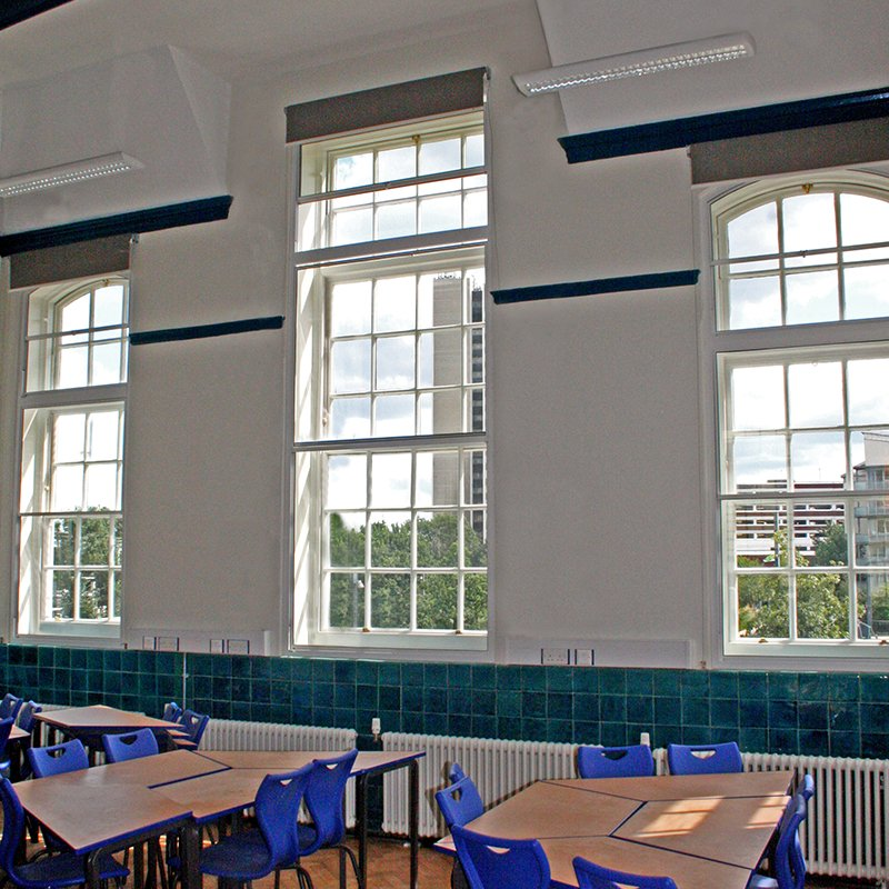 Warmer and quieter learning environment at Prendergast Vale College with secondary double glazing