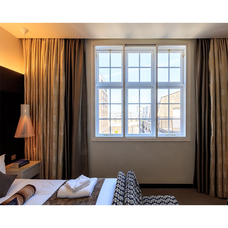 Hotel room available to members at the Royal College of General Practitioners with Selectagalze secondary glazing to improve noise insulation