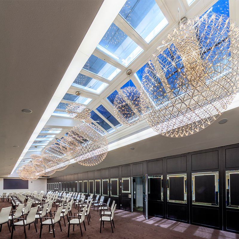 Secondary glazed roof lights in the State Rooms at 30 Euston Square - Royal College of General Practitioners