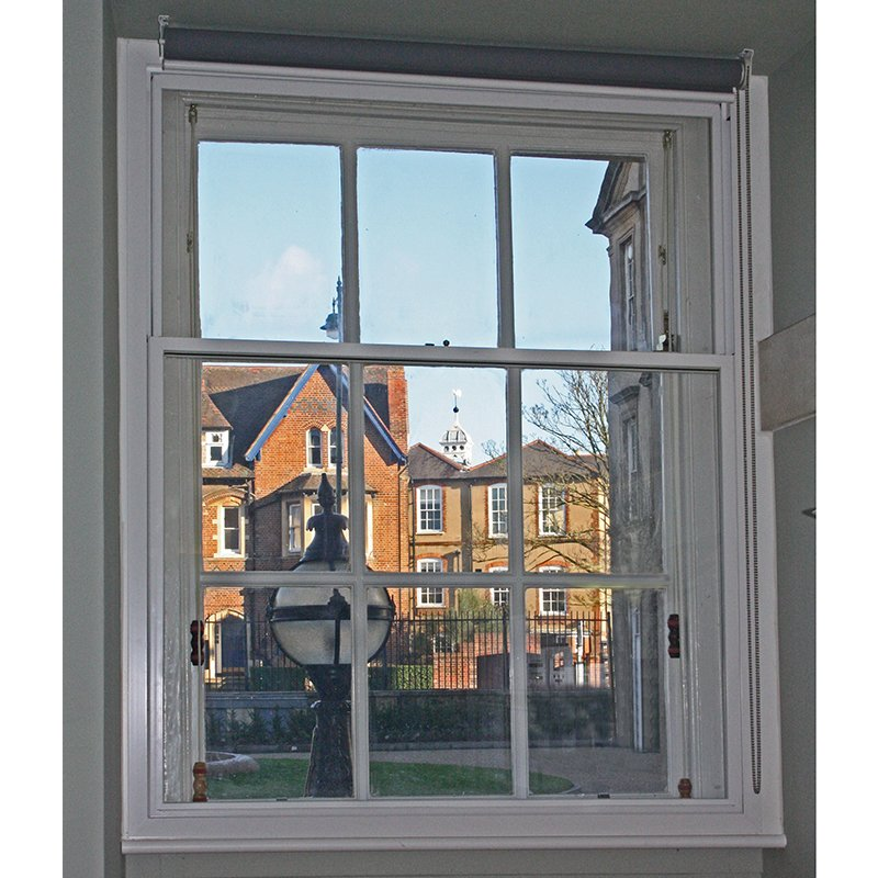 Radcliffe Infirmary sound reducing window with retrofitted secondary glazing