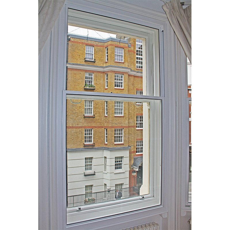Ridgemount Gardens secondary glazing with series 60 tilt-in units installed