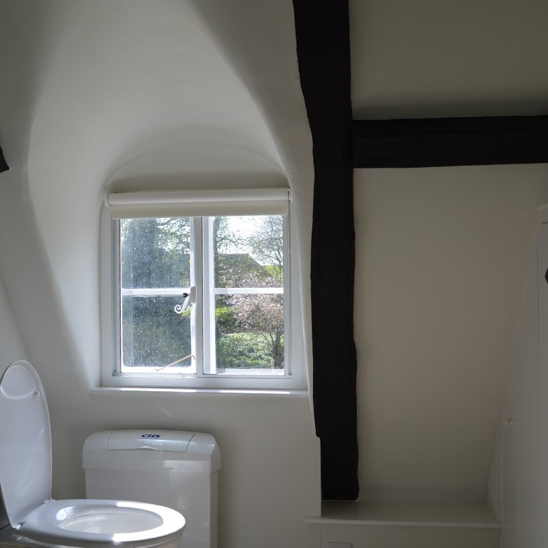 Sacrewell Watermill bathroom made warmer with selectaglaze thermal secondary glazing
