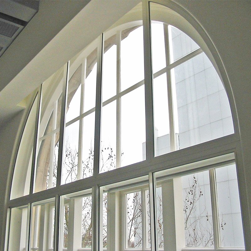 Arched panel secondary glazing unit Series 46_Fixed Panel
